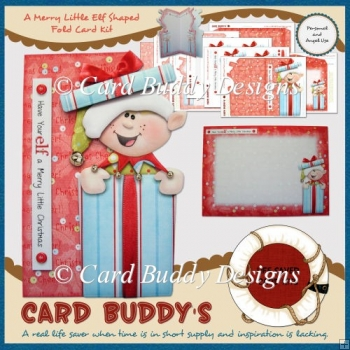 A Merry Little Elf Shaped Fold Card Kit