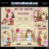 Beautiful Bella Secret Garden ClipArt Collection