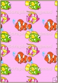 A4 Backing Papers Single - Pink Fish - REF_BP_178