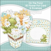 On The Pond 3D Flower Pot & Envelope