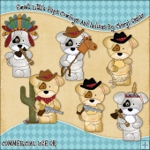Sweet Little Pups Cowboys And Indians ClipArt Graphic Collection