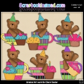 Birthday Bear Cups Graphic Collection