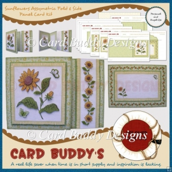 Sunflowers Assymetric Fold & Side Panel Card Kit