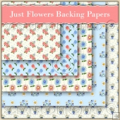 5 Just Flowers Backing Papers Download (C126)
