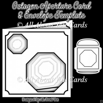 Octagon Aperture Card and Envelope Template