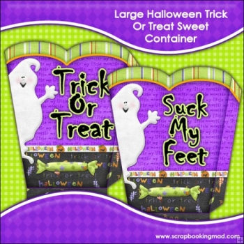 Halloween Trick Or Treat Sweet/Candy Container