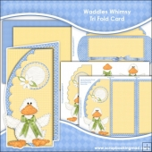 Waddles Whimsy Scalloped Edge Tri Fold Card Download