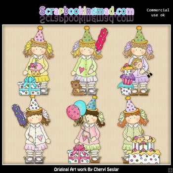 Holly Has A Birthday ClipArt Collection