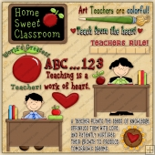 Teachers Rule ClipArt Graphic Collection