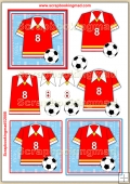 Football Shirt PDF Decoupage Download