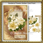 Gardenia Flowers Golden Card Front