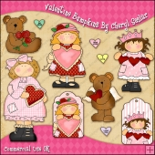 Valentine Bumpkins ClipArt Graphic Collection
