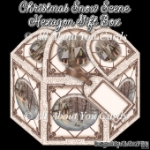 Christmas Snow Scene Hexagon Gift Box
