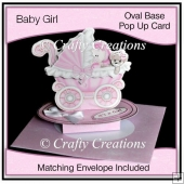 Oval Based Pop Up - New Baby Girl