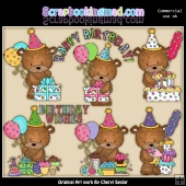 Happy Birthday Bailey Bear ClipArt Graphic Collection