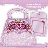Antique Roses Handbag Card & Envelope