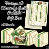 Vintage Christmas Bells Cracker Gift Box