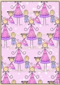 Backing Papers Single - Pink Snow People - REF_BP_1