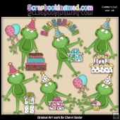Party Frogs ClipArt Collection
