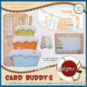 Birthday Cake Shaped Fold Card Kit
