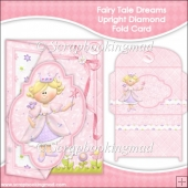 Fairy Tale Dreams Upright Diamond Fold Card & Envelope