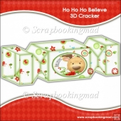 Ho Ho Ho Believe 3D Cracker Gift Box