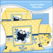 Denim Daisies Pillow Box EXTRA LARGE