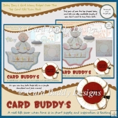Baby Boy & Girl Wavy Edged Over The Top Card Kits Twin Pack