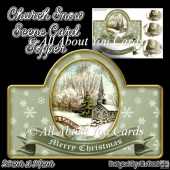 Church Snow Scene Card Topper