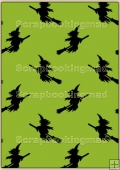 Backing Papers Single - Green Witches - REF_BP_79