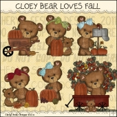 Cloey Bear Loves Fall ClipArt Graphic Collection