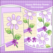 Happy Birthday Flower Decoupage Download