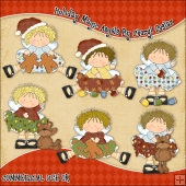 Holiday Magic Angels ClipArt Graphic Collection