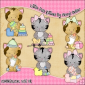 Sweet Little Kittens ClipArt Graphic Collection
