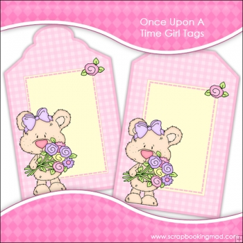 Once Upon A Time Girl Gift Tags - REF T706 & REF T707