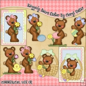 Raggedy Bears Easter ClipArt Graphic Collection