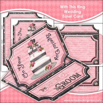 With This Ring Wedding Easel Card Download