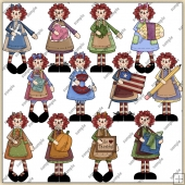 Annies Of The Month ClipArt Graphic Collection