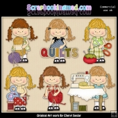 Happy Lulu Sewing Room ClipArt Collection