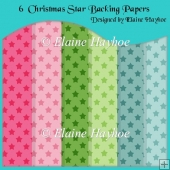 Christmas Star Backing Papers