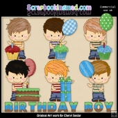 Henry The Birthday Boy ClipArt Collection