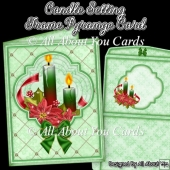 Candle Setting Frame Pyramge Card