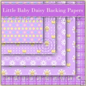 5 Little Baby Daisy Backing Papers Download (C107)