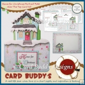Home for Christmas Portrait Fold Over The Top Card Kit