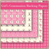 5 Girl's Communion Backing Papers Download (C92)