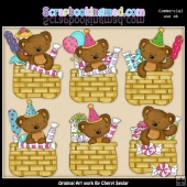 Tibbles Birthday Baskets ClipArt Collection