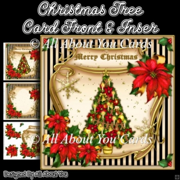 Christmas Tree Card Front & Insert