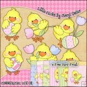 Little Chicks ClipArt Graphic Collection