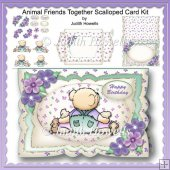 Animal Friends Together Scalloped Card Kit