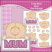Cute Mum Bear Decoupage Download
